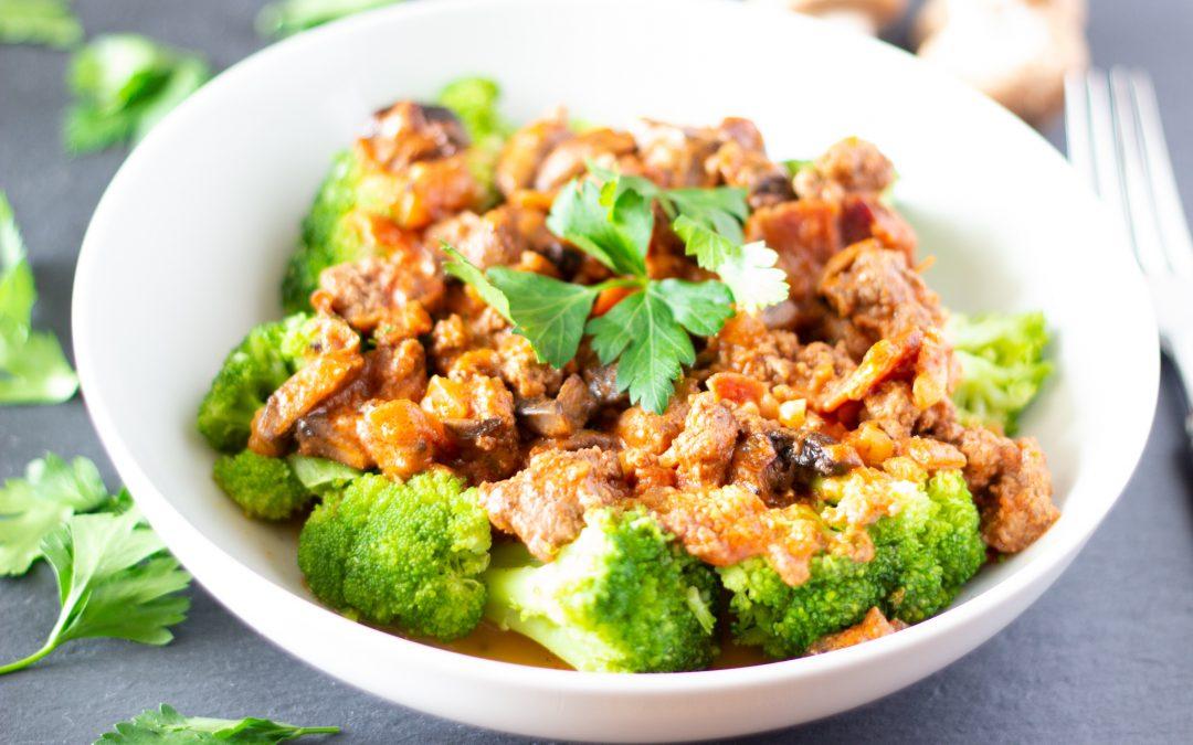 Brokkoli-Bolognese vegan